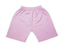 Children's pink shorts Royalty Free Stock Images