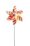 Children's pinwheel. Colorful children's pinwheel, isolated on white background Royalty Free Stock Image