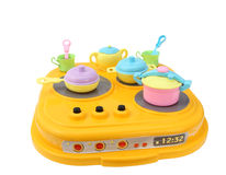 Children's plastic cookware, toys Stock Photo
