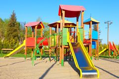 Free Children`s Play Area Stock Photo - 117306230