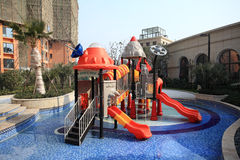 Children's play area in a pool Royalty Free Stock Images