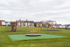 Children's play area in UK park Royalty Free Stock Photography