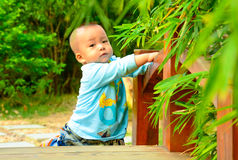 A children's play in Bridge(Asia, China, Chinese) Royalty Free Stock Photos