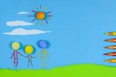 Children's play: Family Stock Image