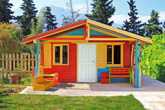 Children S Play House In A Yard Royalty Free Stock Photo