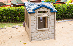 Children's play house in a yard Royalty Free Stock Images