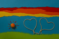 Children's play: Love in the air Royalty Free Stock Photos