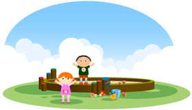 Children's playground. A  illustration Royalty Free Stock Images