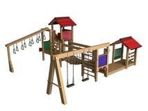 Children's playground. The image of a children's playground on a white background Stock Image