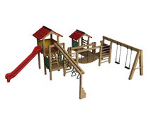 Children's playground. The image of a children's playground on a white background Stock Images