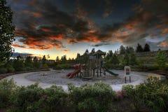 Free Children S Playground At Sunset 2 Royalty Free Stock Photos - 14078108