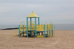 Children`s playground on the beach Royalty Free Stock Images