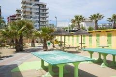 A children's playground on the beach Stock Photos