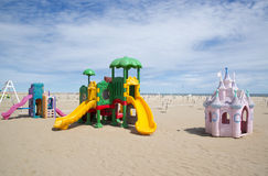 A children's playground on the beach Royalty Free Stock Photo