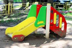 Children`s playground. Children`s slide for children`s entertainment Stock Photo
