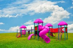 Children's playground in garden Royalty Free Stock Photography