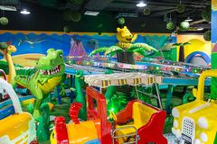 Children`s amusement park in the room stock photography