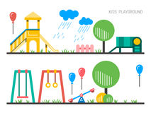Children's playground kindergarten Stock Image