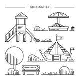 Children's playground kindergarten Stock Photo