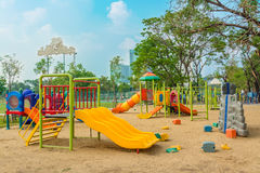 Children's playground leftover. In the park Royalty Free Stock Images