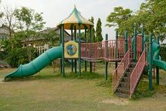 Children's playground leftover in the park Stock Photo