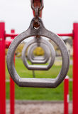 Children`s Playground Metal Still Rings Royalty Free Stock Images
