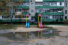 Playground in the yard royalty free stock photography