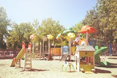 Children`s playground royalty free stock images