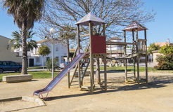Children's playground in a park Royalty Free Stock Photo