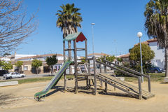 Children's playground in a park Royalty Free Stock Photography