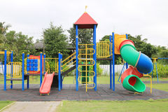 Children's playground at park Royalty Free Stock Photo