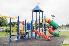 Children's playground at park Stock Photo