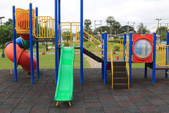 Children's playground at park Royalty Free Stock Photography