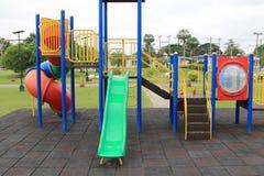 Children's playground at park Stock Images