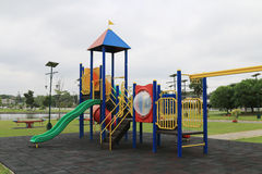 Children's playground at park Royalty Free Stock Images