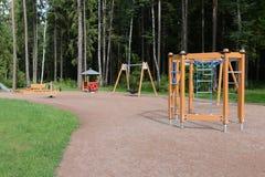 Children's Playground in the Park Meschersky. Stock Photo