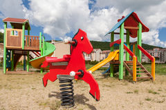 Children`s playground in the park royalty free stock image