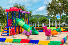Children' s playground at public park Royalty Free Stock Photo