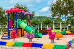 Children' s playground at public park. Children s playground at public park Royalty Free Stock Photo