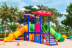 Children' s playground at public park Royalty Free Stock Image