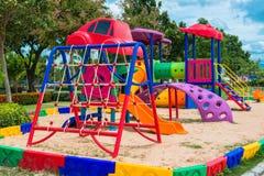 Children' s playground at public park. Children s playground at public park Stock Photo