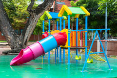 Children  s playground at public park Royalty Free Stock Image