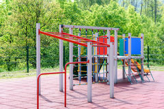 Children`s Playground in a public park Stock Images