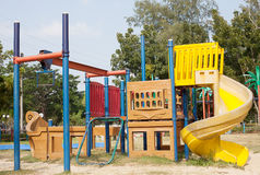 Children's playground at public park Stock Photo