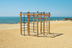 Children's playground by the sea. Royalty Free Stock Photos