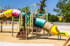 Children`s Playground Set. With Bars & Tube Slide Stock Photography