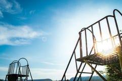 Children`s playground, Slider and sunlight Stock Photography