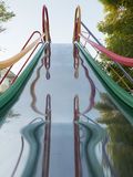 Children's playground slides Stock Images