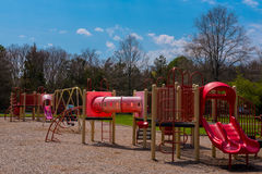 A Children`s Playground. A playground for children during spring time Royalty Free Stock Photos