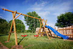 Children's Playground. On a summer day Royalty Free Stock Photos